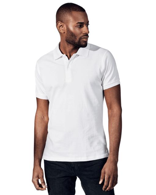 Pique Polo T-Shirt White