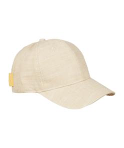 Classic Cotton-Linen Blend 6-Panel Cap Sand Melange