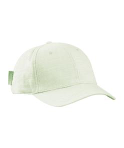 Classic Cotton-Linen Blend 6-Panel Cap Seafoam Green