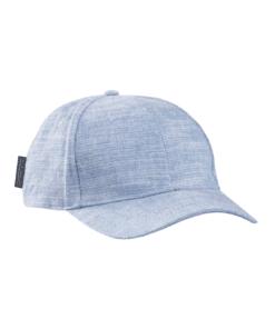 Classic Cotton-Linen Blend 6-Panel Cap Seaside Blue Melange