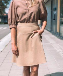 Stelly Stretch Twill Skirt Warm Beige
