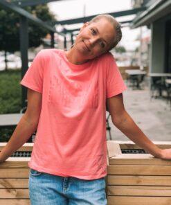 Trenda P Single Organic T-Shirt Strawberry Pink