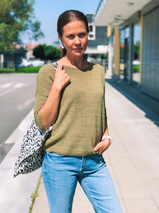 Tuesday Cotton Jumper Martini Olive
