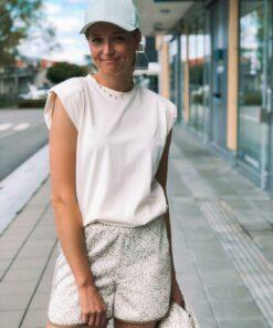 Eryka Padded T-Shirt Whisper White