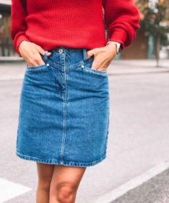 Neel Denim Skirt Classic Blue Denim