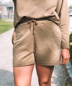 Brise Sweat Shorts Ermine Melange