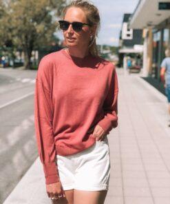 Madelyn Merino Sweater Marsala