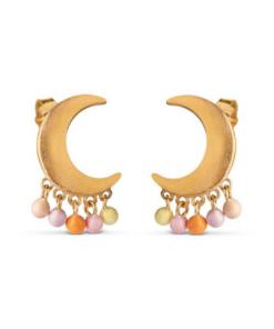 Earring Lune Peach/Light Pink