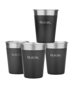 Glacial 4-pack Matte Black Cup Set