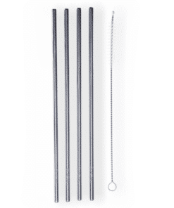 Glacial 4-pack Stainless Steel Straw Set