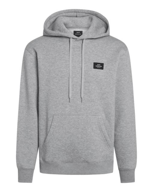New Standard Hoodie Badge Grey Melange