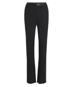 Lonnie 5x5 Solid Pants Black
