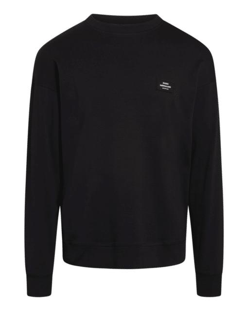 Cotton Rib Son Badge Sweater Black