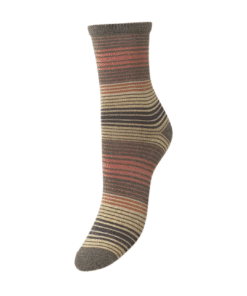 Imma Thin Stripe Sock Olivine