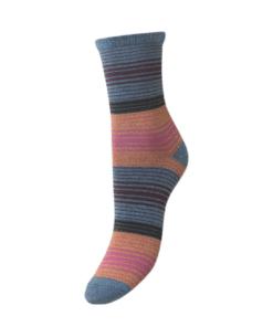 Imma Thin Stripe Sock Provincial Blue