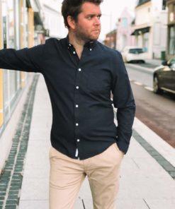Jay Mørkeblå Skjorte
