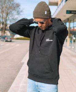 New Standard Hoodie Logo Hettegenser Black