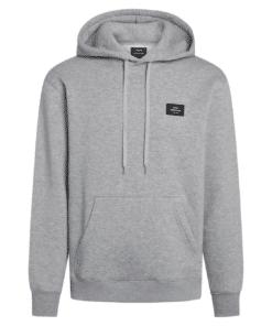 New Standard Hoodie Badge Hettegenser Grey Melange