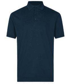 Februus Mørkeblå Pique T-Skjorte
