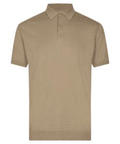 Februus Beige Pique T-Skjorte