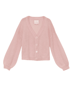 Mohair Knit Jacket Pink