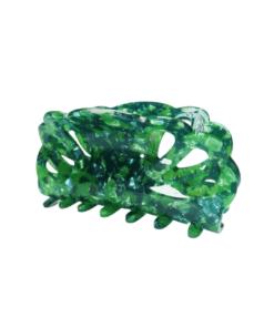 Jenny Hair Claw Mørk Blå og Grønn Hårklype