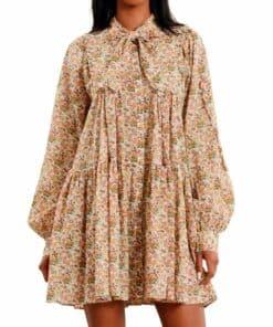 Bohemian Mini Dress Blomstrete Kjole