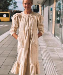Corduroy Midi Dress Creme Kjole