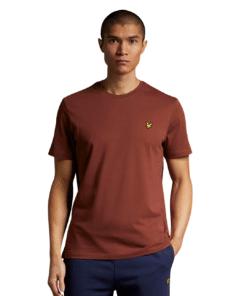 Plain Crew Neck Rust T-Skjorte