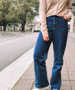 Sun Wide Leg Blå Jeans
